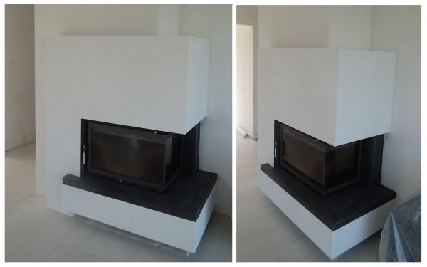 kominek boczny nowoczesny