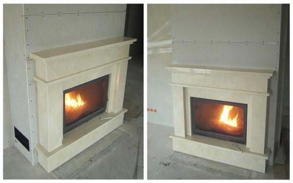 tradycyjny portal kominek